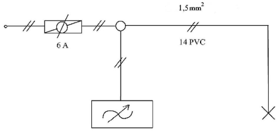 Dimmer anahtar tesisati kapali semasi