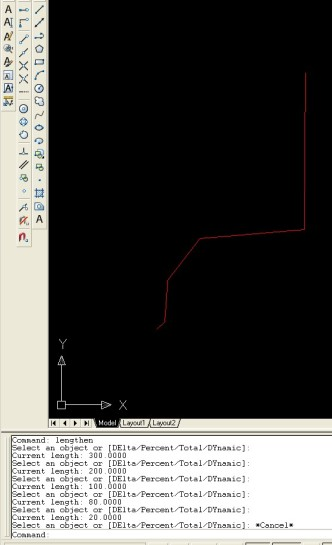Autocad lengthen komutu ile parça parça çizgi boyu ölçmek metraj elektirk proje