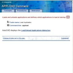 AutoCAD lisp yükleme için Apload komutu