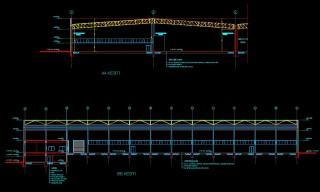 Pcsitemiz  Elektrik Proje Autocad Fabrika Görünüm BB AA çizim