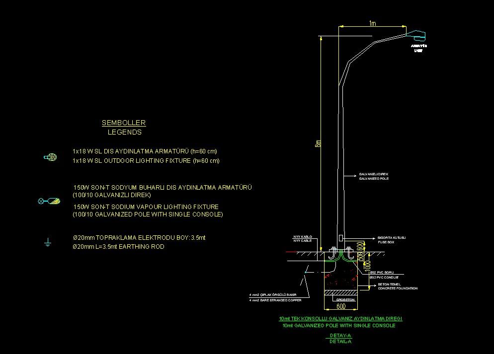 Sakarya Ag Og Elektrik Projesi 199 Evre Yol Aydınlatma