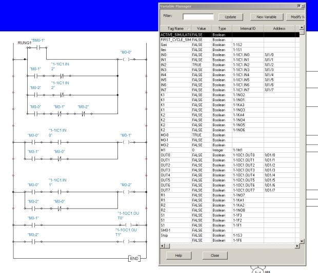 Automation studio da s7-200 M bitlerini first scan bitini oluşturma