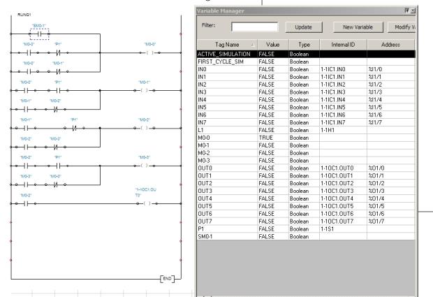 plc simens s7-200 automation studio eğitim değişken atama m bitleri first scan biti örnek