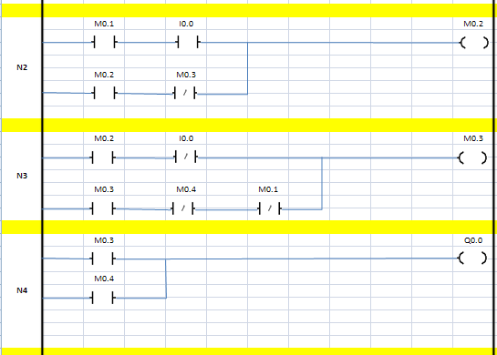 n2n3n4 delta siemens plc örnek program dvp M1002 sm01 eğitim yöntem sunu ankara krıkkale çizim adım diyagram şema  sayıcı zamanlayıcı TMR t37 m01